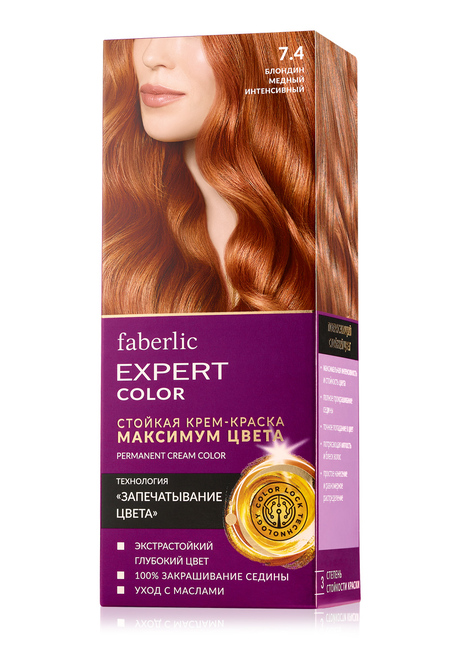 "Maximum Color Permanent Dye, tone ""6.0. Dark blond"""