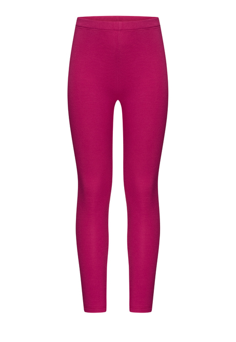 TUK102 Girls' Thermal Leggings, fuschia, size 152-158
