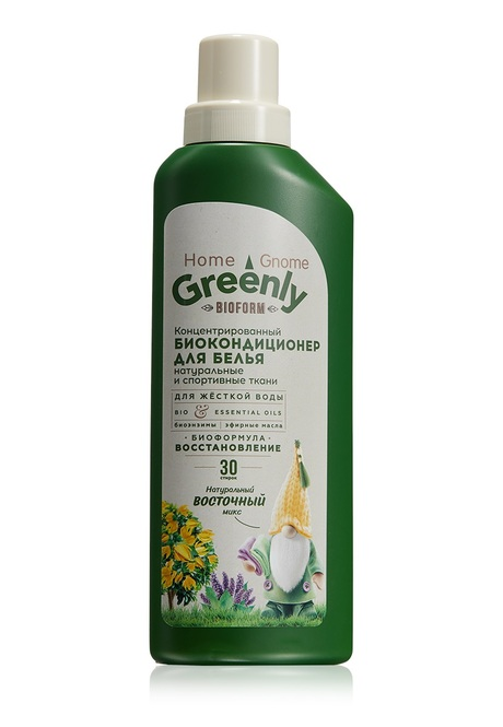 Home Gnome Greenly Concentrated Bio Conditioner for clothes, Oriental Mix