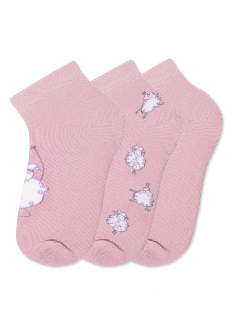 Cute Lamb Girls' Socks, pink